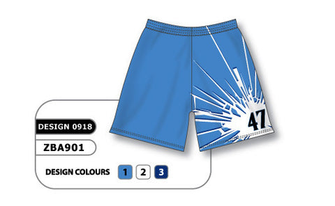 ZBA901-0918 Custom Sublimated Ladies Softball Short