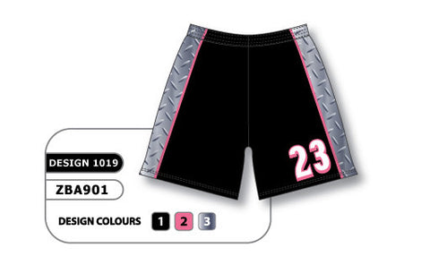 ZBA901-1019 Custom Sublimated Ladies Softball Short