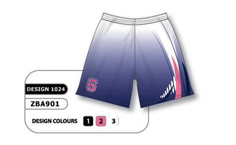 ZBA901-1024 Custom Sublimated Ladies Softball Short