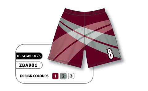 ZBA901-1025 Custom Sublimated Ladies Softball Short
