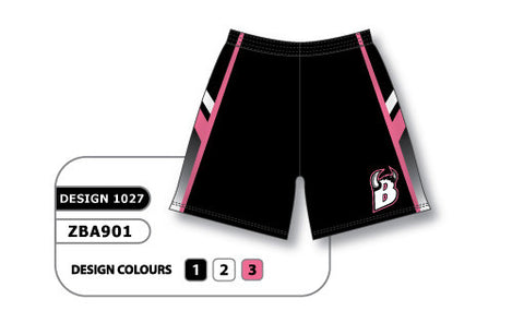 ZBA901-1027 Custom Sublimated Ladies Softball Short