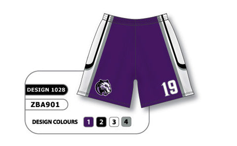 ZBA901-1028 Custom Sublimated Ladies Softball Short