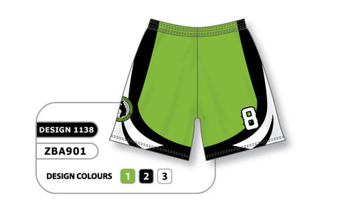 ZBA901-1138 Custom Sublimated Ladies Softball Short