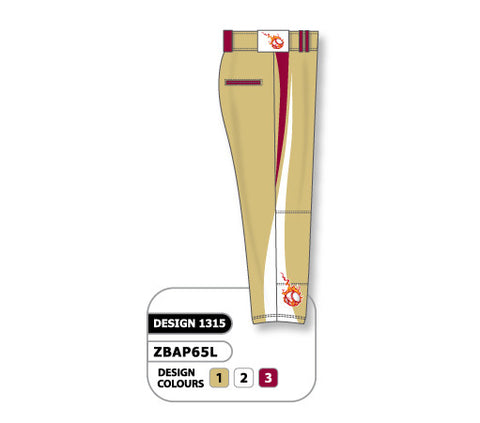 ZBAP65-1315 Custom Sublimated Ladies Softball Pant