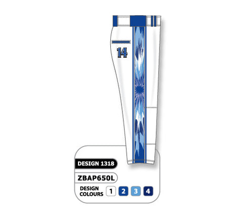 ZBAP650-1318 Custom Sublimated Ladies Softball Pant