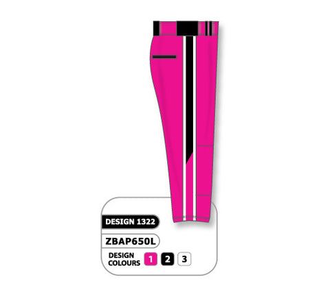 ZBAP650-1322 Custom Sublimated Ladies Softball Pant