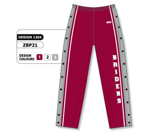 Custom Sublimated Basketball Warm Up Pant Design 1204