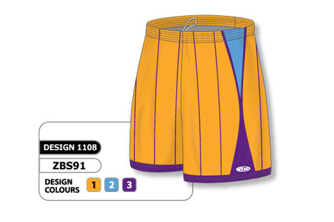 Custom Sublimated Basketball Short Design 1108