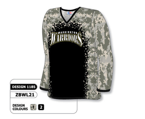 Sublimated Long Sleeve Basketball Shooting Shirt Design 1185