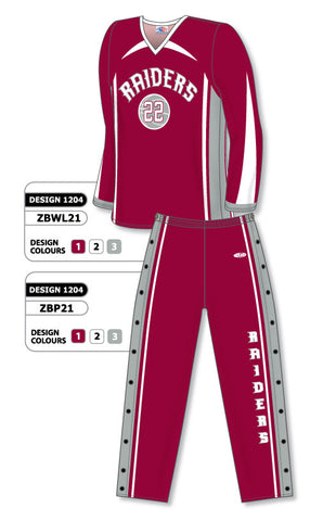 Sublimated Long Sleeve Basketball Warm Up Set Design 1204