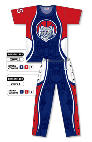 Custom Sublimated Basketball Warm Up Set Design 1182