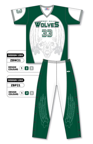 Custom Sublimated Basketball Warm Up Set Design 1202