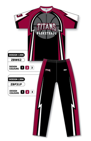 Custom Sublimated Basketball Warm Up Set Design 1306