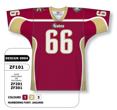 Custom Sublimated Football Jersey Design 0904