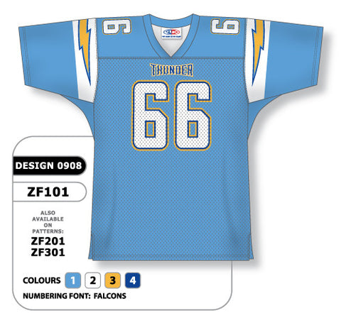Custom Sublimated Football Jersey Design 0908