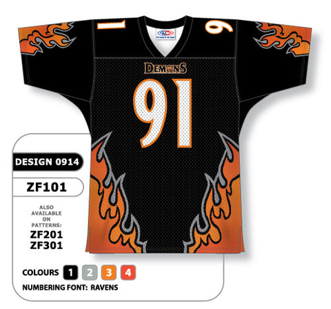 Custom Sublimated Football Jersey Design 0914