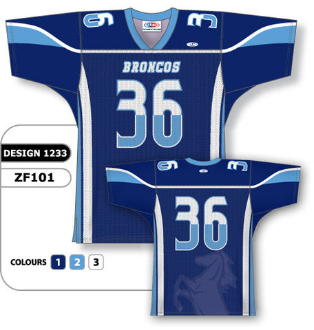 Custom Sublimated Football Jersey Design 1233