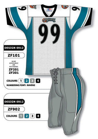 Custom Sublimated Football Uniform Set Design 0912