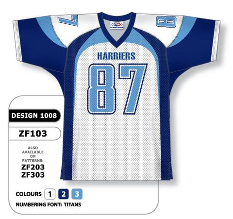 Custom Sublimated Football Jersey Design 1008