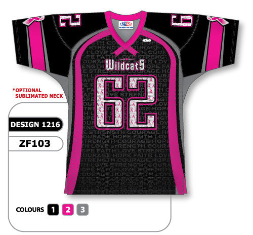 select colors Sublimated Football Jersey including all text and optional pants