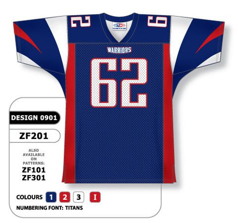 Custom Sublimated Football Jersey Design 0901