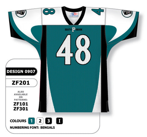 Custom Sublimated Football Jersey Design 0907