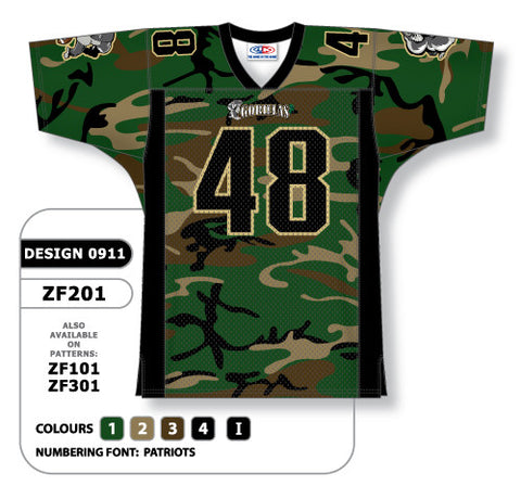 Custom Sublimated Football Jersey Design 0911