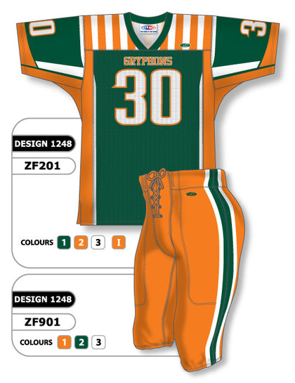 Custom Sublimated Football Uniform Set Design 1248