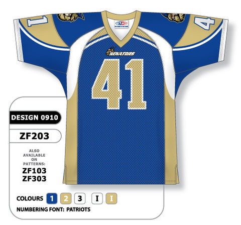 Custom Sublimated Football Jersey Design 0910
