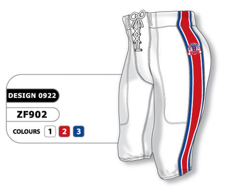 Custom Sublimated Football Pant Design 0922