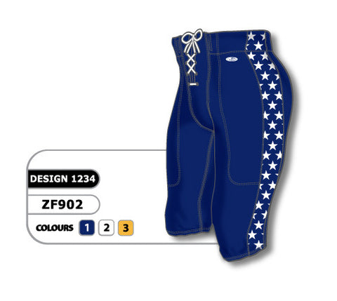 Custom Sublimated Football Pant Design 1234