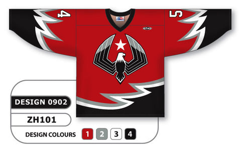 Custom Sublimated Hockey Jersey Design 0902