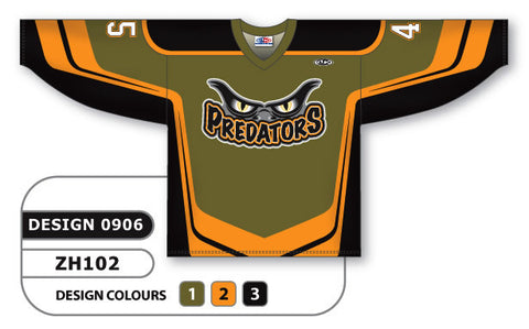 Custom Sublimated Hockey Jersey Design 0906