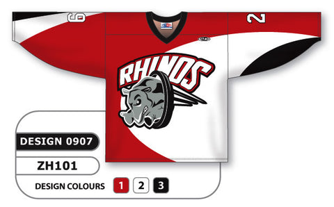 Custom Sublimated Hockey Jersey Design 0907