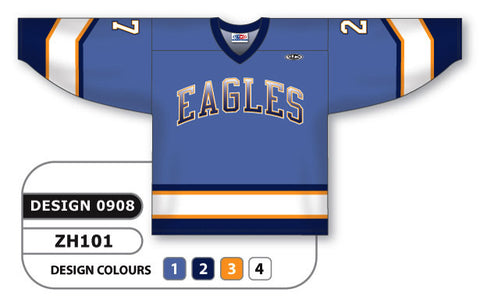 Custom Sublimated Hockey Jersey Design 0908