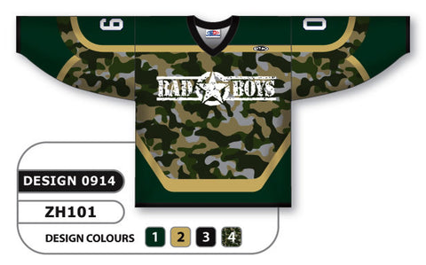 Custom Sublimated Hockey Jersey Design 0914