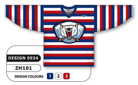 Custom Sublimated Hockey Jersey Design 0934