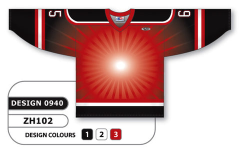 Custom Sublimated Hockey Jersey Design 0940