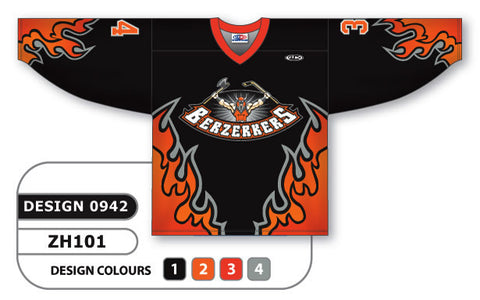 Custom Sublimated Hockey Jersey Design 0942