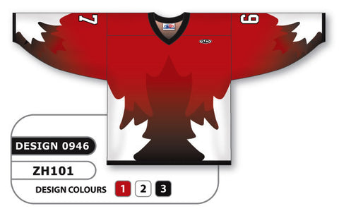 Custom Sublimated Hockey Jersey Design 0946