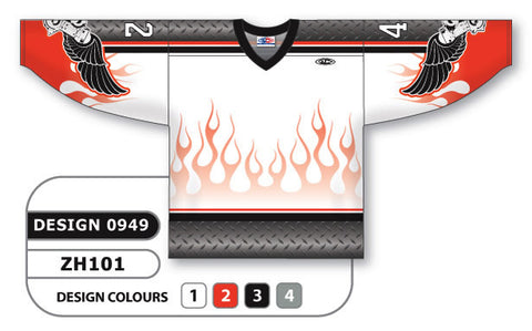 Custom Sublimated Hockey Jersey Design 0949