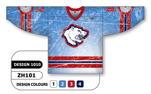 Custom Sublimated Hockey Jersey Design 1010
