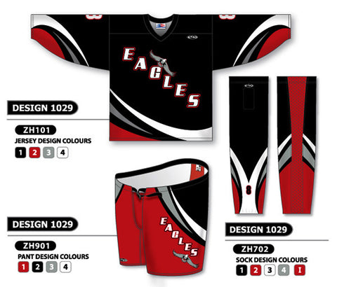 Custom Sublimated Hockey Uniform Design 1029