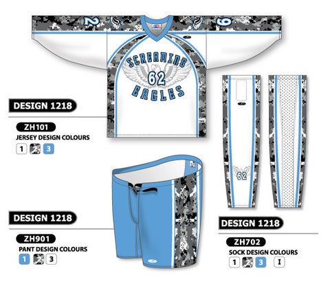 Custom Sublimated Hockey Uniform Design 1218