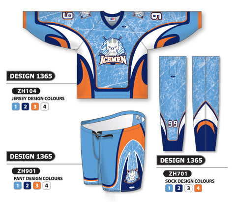Custom Sublimated Hockey Uniform Design 1365