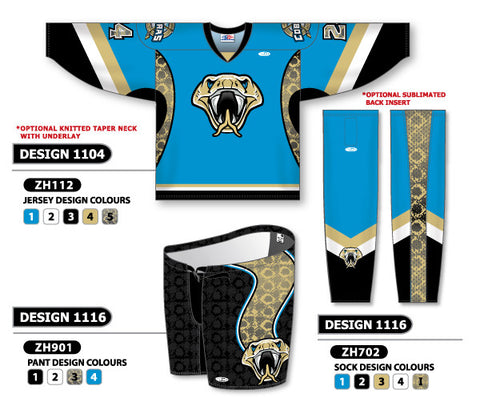 Custom Sublimated Hockey Uniform Design 1104
