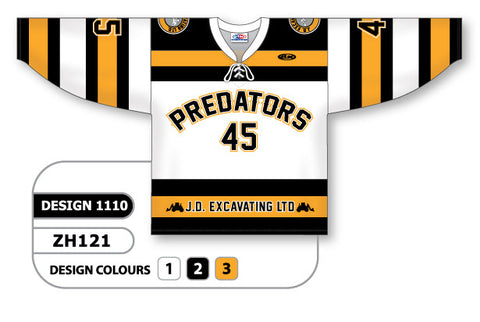 Custom Sublimated Hockey Jersey Design 1110
