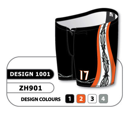 Custom Sublimated Hockey Pant Shell Design 1001