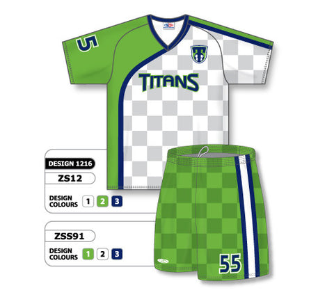 Custom Sublimated Soccer Uniform Set Design 1216