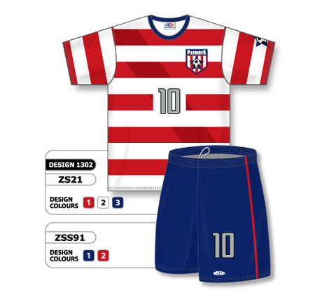 Custom Sublimated Soccer Uniform Set Design 1302